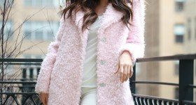 How to wear pale pink during the winter season?